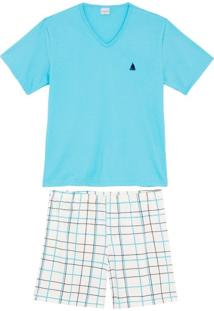 Pijama Masculino Lua Encantada Algodão Barco