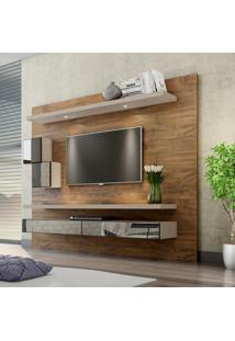 Painel Para Tv 220 Nobre/Fendi Com Espelho Tb110E - Dalla Costa