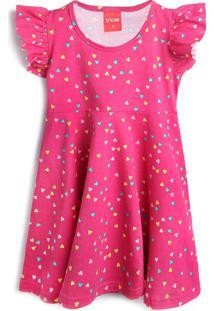 Vestido Tricae Coração Rosa