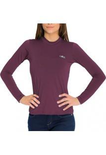Camiseta Térmica Manga Longa Mprotect Bordo