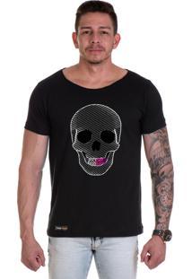 Camiseta Lucas Lunny T Shirt Gola Canoa Caveira Aparelho