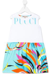 Emilio Pucci Junior Vestido Com Estampa - Branco