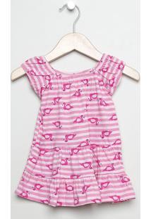 Vestido Flamingos - Rosa & Pink -Babytip Top