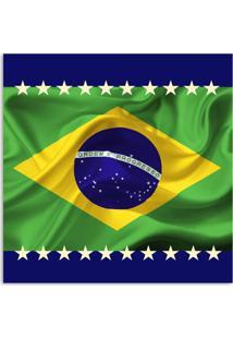 Quadro Bandeira Uniart Verde 30X30Cm