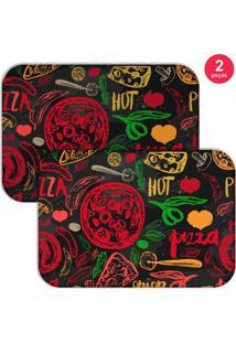 Jogo Americano Love Decor Hot Pizza Colorido