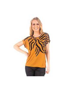 Tshirt Estampa Tigre Flocado Bana Bana
