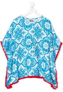 Mc2 Saint Barth Kids Kaftan Kate Com Estampa - Azul