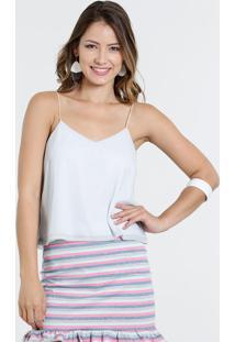 Blusa Feminina Cropped Lurex Decote V Marisa