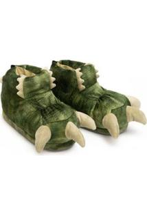 Pantufa 3D Ricsen Garra Dino - Unissex-Verde