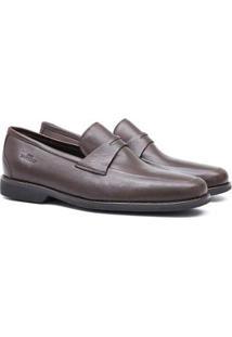 Sapato Social Samello Comfort Gel Stors Masculino - Masculino-Café
