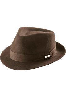 Chapéu Fedora Masculino Tabaco