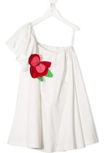 Piccola Ludo Vestido Assimétrico - Branco