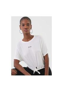 Camiseta Ellus Jersey Wishes Off-White