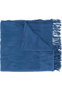 Acne Studios Cachecol De Lã - Azul