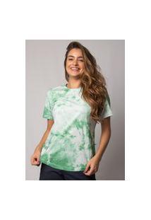Camiseta Pau A Pique Tie Dye Verde