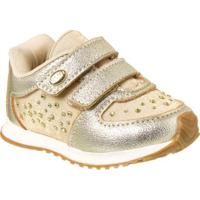 Tênis Bebê Klin Mini Walk Strass Feminino - Feminino-Dourado 0477811760e57