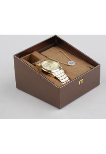 30ed4427725 Kit De Relógio Analógico Mondaine Feminino + Pulseira - 53630Lpmvde1K1  Dourado - Único