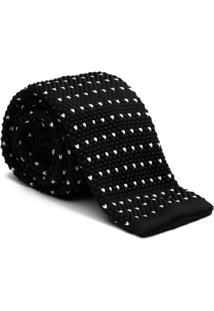 Gravata Key Design - Tricot Point Black - Masculino-Preto