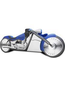 Cama Carro Moto Chopper Azul