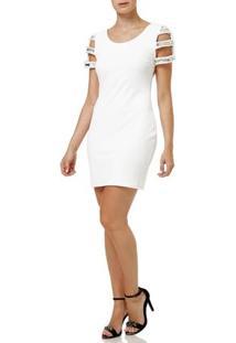 Vestido Curto Feminino Autentique Off White