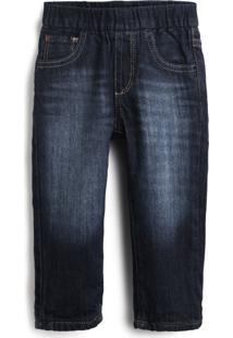 Calça Jeans Gap Menino Estonada Azul
