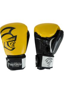 Luvas De Boxe Pretorian Elite Training - 14 Oz - Adulto - Amarelo/Preto