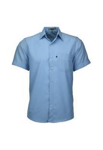 Camisa Social Amil Não Amassa 440 Azul Bebê