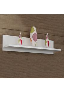 Prateleira 90 Cm Com Fixação Invisível Pr 003 Branco - Completa Móveis