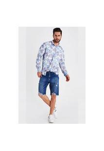 Bermuda Jeans Levo Shop Tradicional Carlos Azul