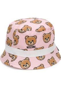 Moschino Kids Chapéu Com Estampa De Urso - Rosa