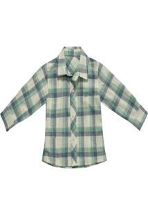 Camisa Barbara Colore Casual Xadrez Verde Claro