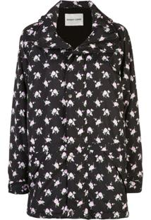 Sandy Liang Oliver Floral Printed Jacket - Preto