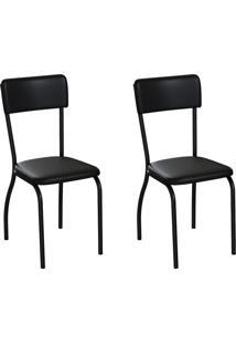 Conjunto Com 2 Cadeiras Nowra Preto