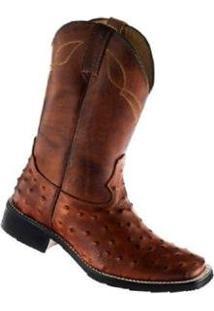 Bota Couro Garrutti Boots Country Zíper Masculina - Masculino