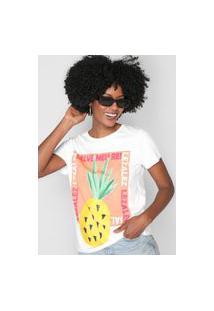Camiseta Lez A Lez Abacaxi Branca