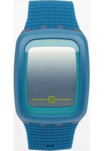 Relógio Digital Com Relevo Svqn100- Azul & Azul Claro