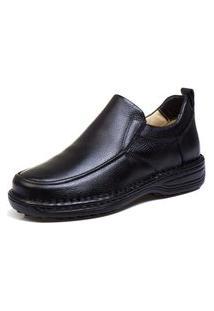 Sapato Social Top Franca Shoes Ortopedico Conforto Preto