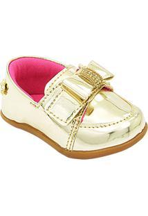 Sapato Iate Infantil Feminino Pé Com Pé - Feminino-Dourado
