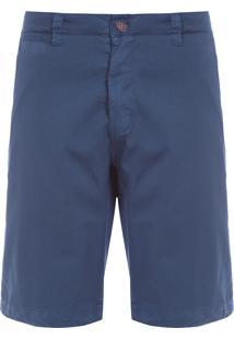 Bermuda Masculina Casual Fio Tinto - Azul