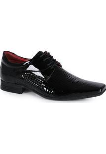 Sapato Social Masculino Calvest Textura Preto