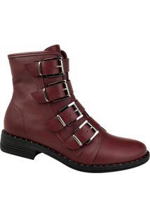 b5350bc5e Coturno Pelo Vermelho feminino   Shoes4you