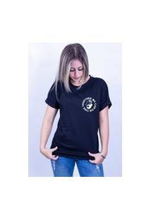 Camiseta Corte A Fio Bilhan Together We Can Do Pqn Preta