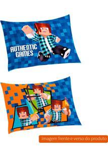 Fronha Infantil Authentic Games Algodão Azul