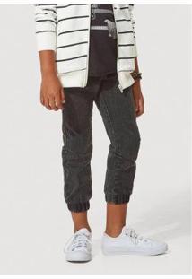 Calça Jeans Hering Jogger Infantil Masculina - Masculino-Preto