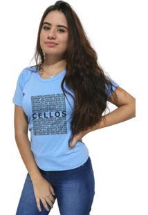 Camiseta Feminina Cellos Several Premium Azul Claro - Kanui