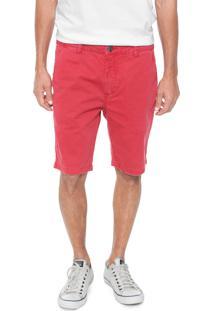 Bermuda Sarja John John Reta Tabor Vermelha - Vermelho - Masculino - Algodã£O - Dafiti