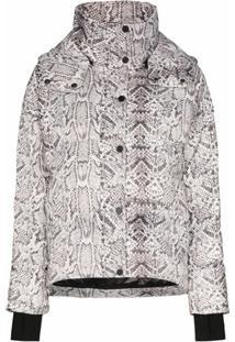 Varley Highland Snake Print Puffer Jacket - Preto