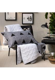 Kit Cobreleito Home Design Memphis Solteiro - Santista - Cinza