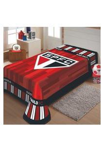Cobertor Jolitex São Paulo Tricolor Solteiro