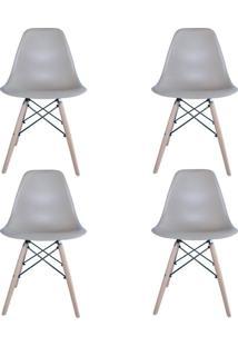 Kit 4 Cadeiras Facthus Eiffel Charles Eames Em Abs Nude